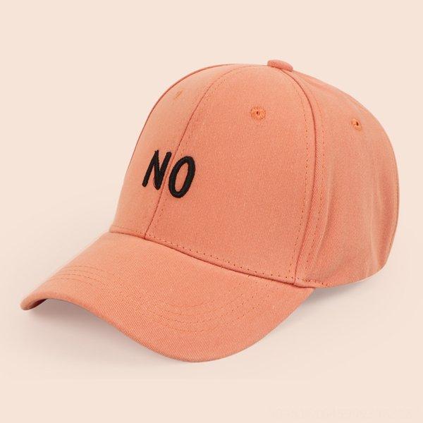 Стерео Вышивание Нет Бейсболка-оранжевый