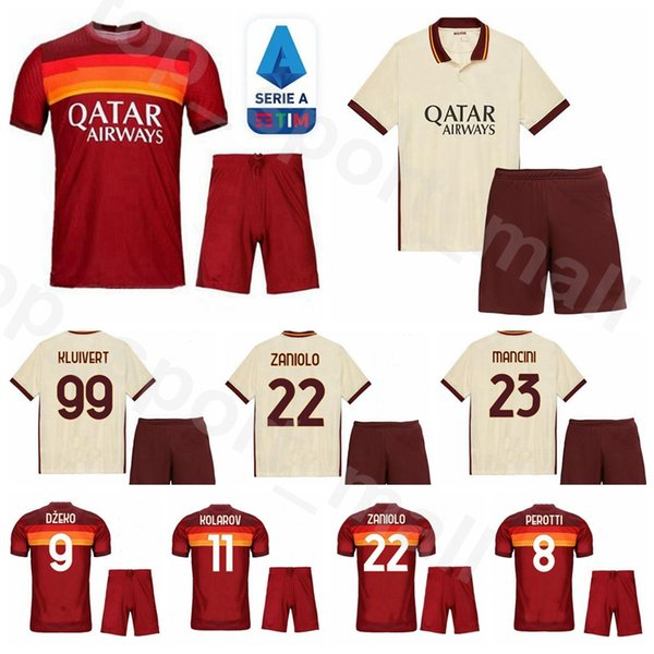 20 21 soccer as roma 9 edin dzeko jersey set 77 henrikh mkhitaryan ...