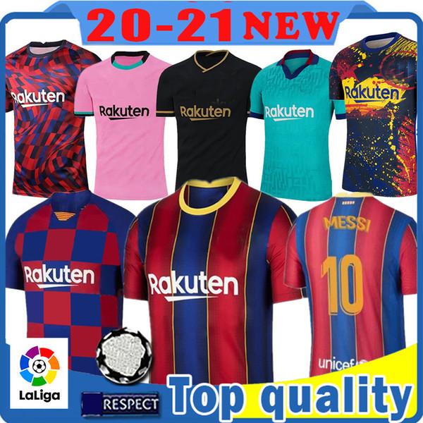 top popular 10 MESSI Barcelona Maillots de football shirt soccer jersey 8 A. INIESTA GRIEZMANN F. DE JONG SUAREZ DEMBELE COUTINHO MALC Men kids kit 2020