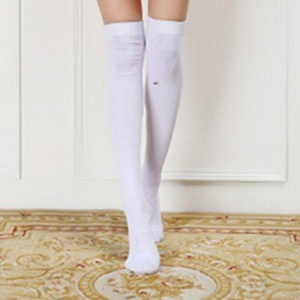 Beyaz Uyluk Çorap