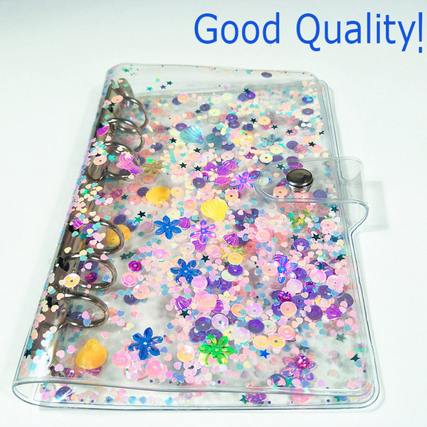 best selling A6 PVC Waterproof Binder Notebook Cover Transparent Loose-leaf Shell Simple Business Hand Account Book Binder Shell School Office Supplies