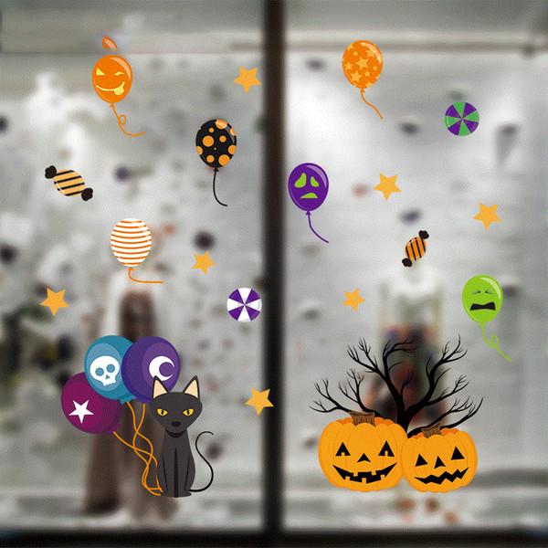 top popular Halloween Spider Xpress Creative Decoration Sticker Cabinet Electrostatic Sticker 2021