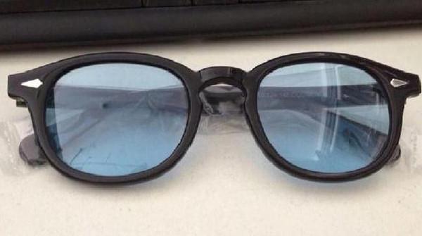 Cadre noir lentille bleu clair
