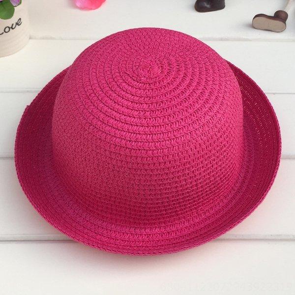 Cabeza C210 pequeñas y redondas sombrero blanco Rosa Roja