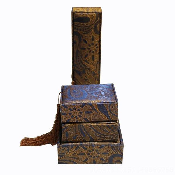 Azul Caju borlas-6x6 Caixa de Anel
