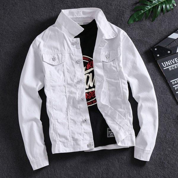 Sólido Jacket Cor Branco