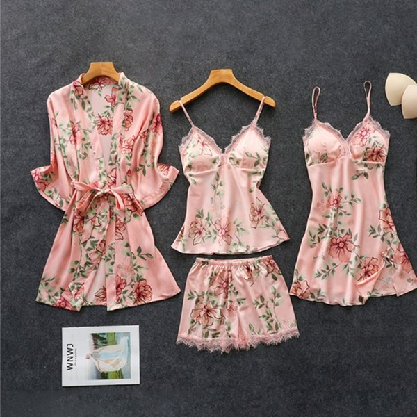 Rosa Muster 4-teiliges Set-XL