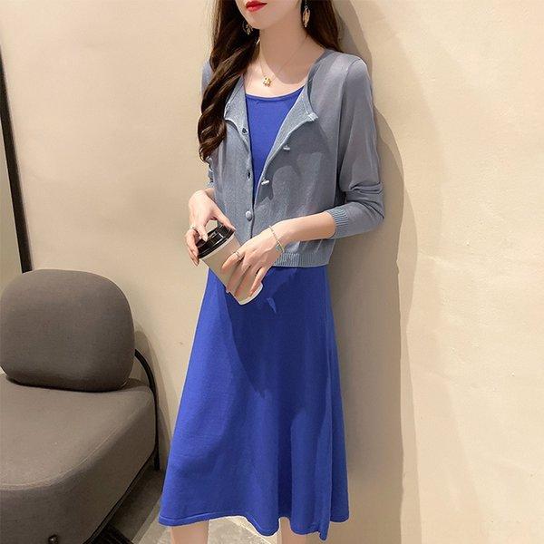 210 Blue One-piece Sonnenschutz Kleidung