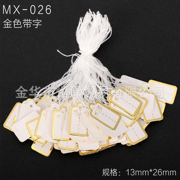 Mx-026-un paquet de 100 pièces