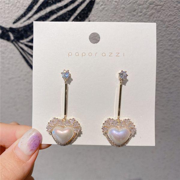 Boucles d'oreilles amour -925 aiguille d'argent