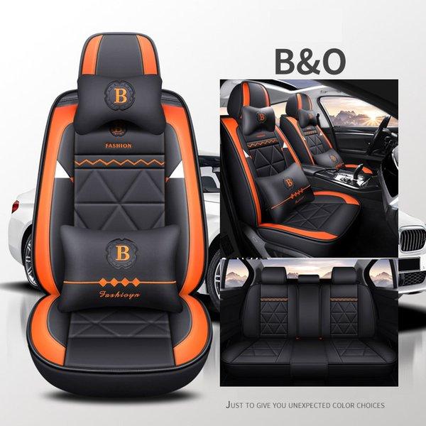 Luxus schwarz orange