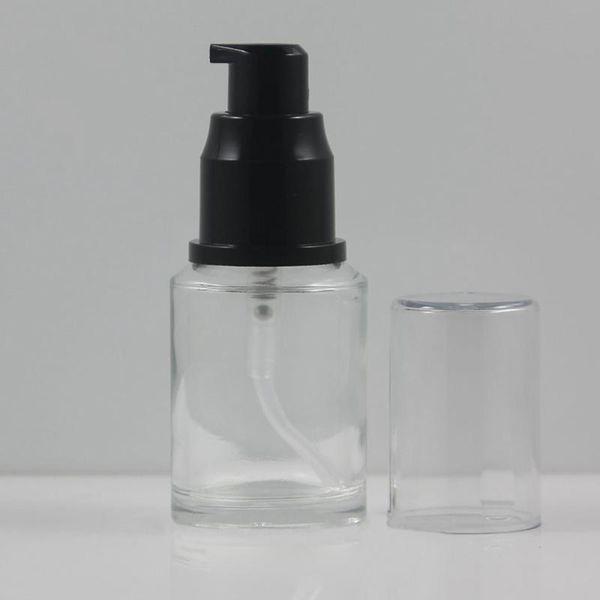 30ml pompe lotion verre clair