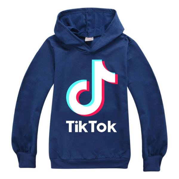 top popular Tik Tok Hoodies Kids Baby Boys Girls Clothes Cotton Hooded Hoodie Sweatshirt Cheap Discount Tiktok Teen Kids Casual Sportswear 2021