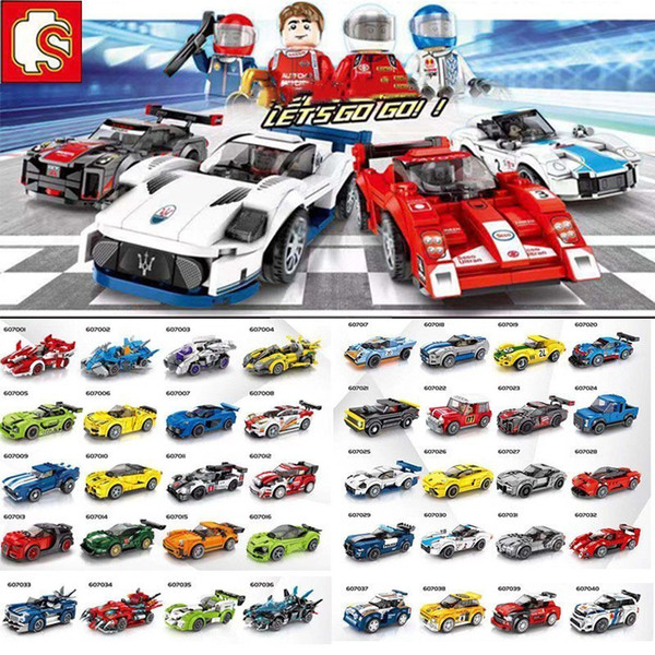 top popular City Super Racers Model building Blocks speed Champions Racing Sport Car Bricks construction Toys For Children Gift 2021