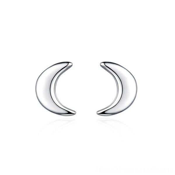 Hipster Lune Boucles d'oreilles-925 Argent