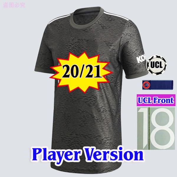 لاعب 20 21 بعيدا مع جبهة كأس UCL