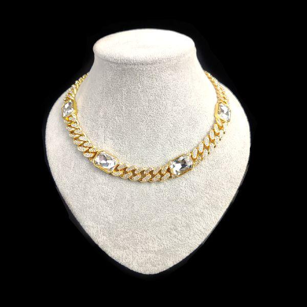 50cm + Gold + White gem