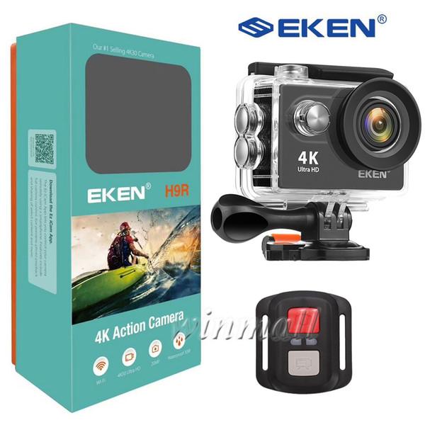 "top popular Original EKEN H9R Remote Control Ultra HD 4K Action Camera WiFi 2.0"" 170D Underwater Waterproof Helmet Sport cam Mini DV 2020"