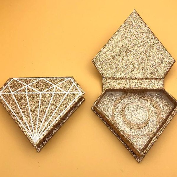 boîte à paillettes dorée