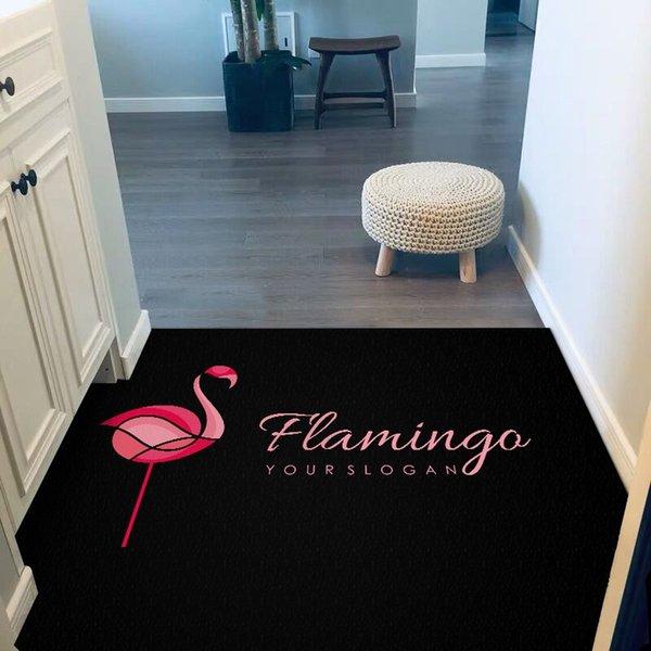 Flamingo (negro) -0,5 × 0,8 m (antideslizante A