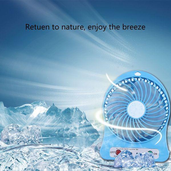 best selling General family cooling Portable Desk Fan LED Light Fan 5W Outdoor USB Fan Without 18650 Battery