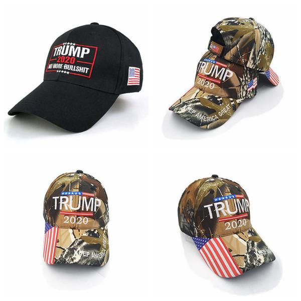 top popular Donald Trump Baseball Hat USA Flag Camouflage Cap Keep America Great Hats 3D Embroidery Letter Adjustable Trump 2020 Snapback CYZ2713 2021