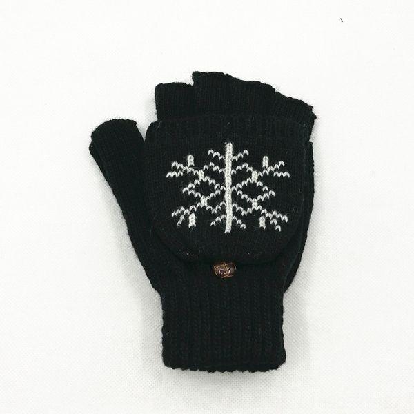 Floco de neve preto-One Size