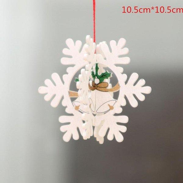 1pc 3D beyaz kar