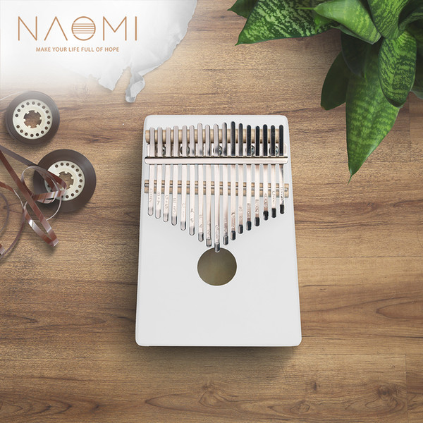 best selling NAOMI 17 Key White Color Thumb Kalimba Finger Piano Traditional Musical Instrument