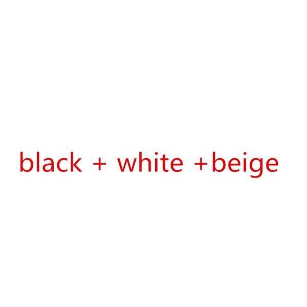 bege branco preto