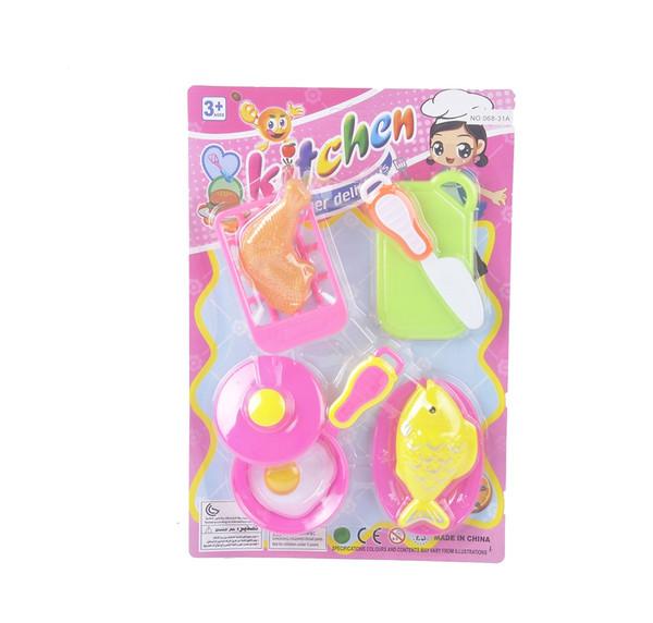 best selling 4 set plastic chenghai educational toys christmas light gift box cake kitchen toys for kids 6-8