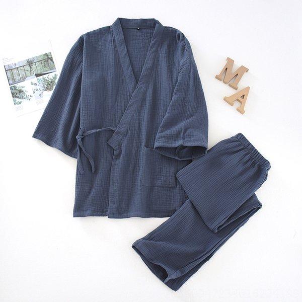 Traje sólido de color Crepe kimono para los hombres-gr
