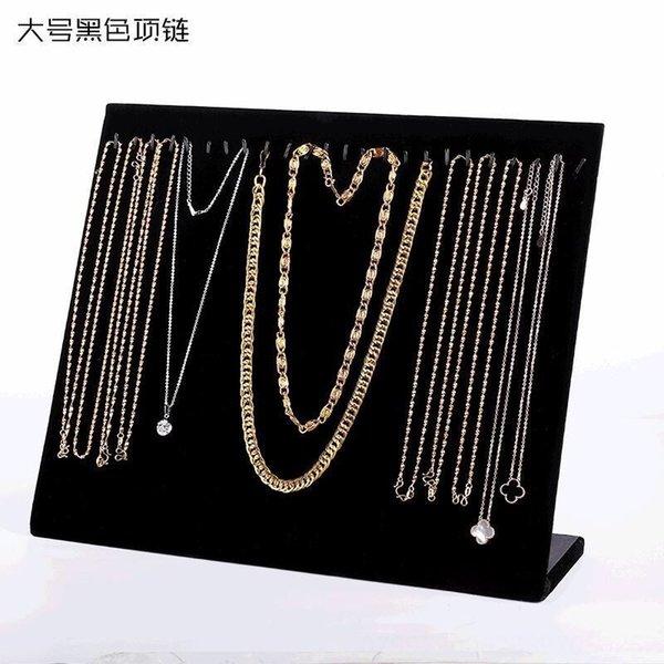 24 Adhesive Haken Black Velvet Halskette B