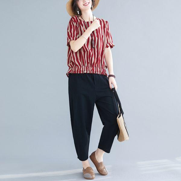 Pantalones Red Stripe Top + Negro