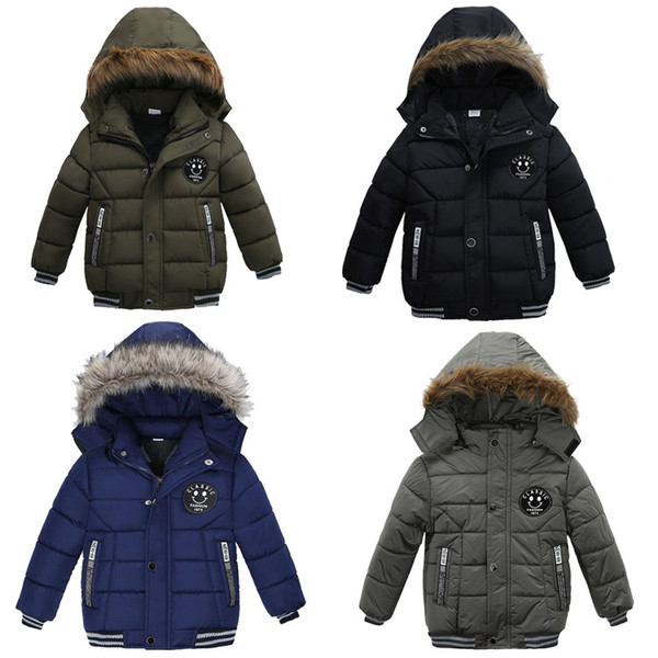 top popular INS Kids Boys Girls Down Coat Cotton Winter Jackets Korean Thick Hooded Cotton Padded Kids Fashion Casual Zipper Warm Boy's Clothing Outwear 2021