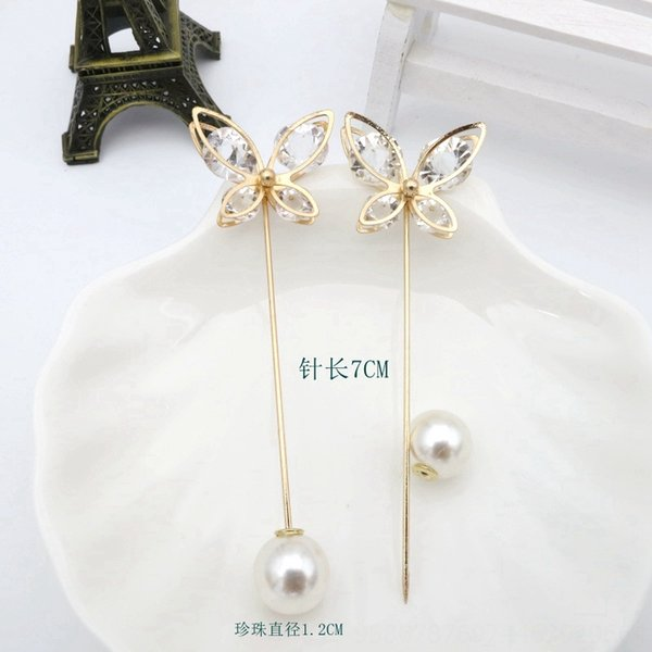4 # Butterfly Pin Lunghezza 7 centimetri + 12 millimetri Beads