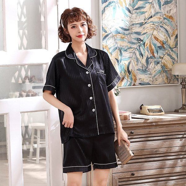 Short Sleeve Diamond Black Ladies Thin S