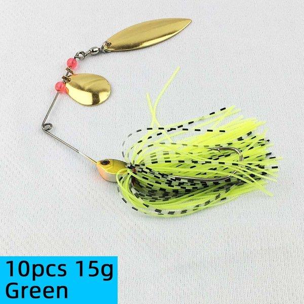 10pcs 15g Green