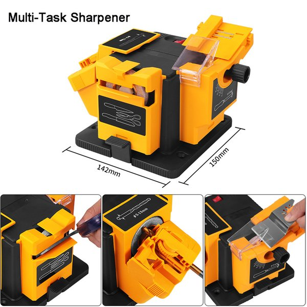 best selling 96W 3in1 Multifunction sharpener Working For Knives Scissors & Planer iron&Drills 96w Electric Knife Sharpener Multifunction Sharpener
