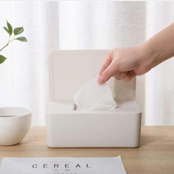 top popular Dry Wet Tissue Paper Case Care Baby Wipes Napkin Storage Box Home Tissue Holder Wipes Dispenser Holder Container DROPSHIPPING 2021