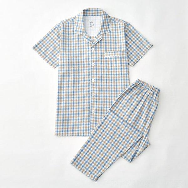 Men # 039; s de algodón de color azul