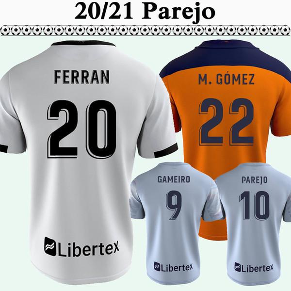 20 21 PAREJO Mens Soccer Jerseys New M. GOMEZ GUEDES RODRIGO M. FERRAN GAMEIRO Home White Away 3rd Football Shirt Short Sleeve Uniforms