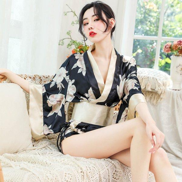 Bianco X22 grande fiore Kimono