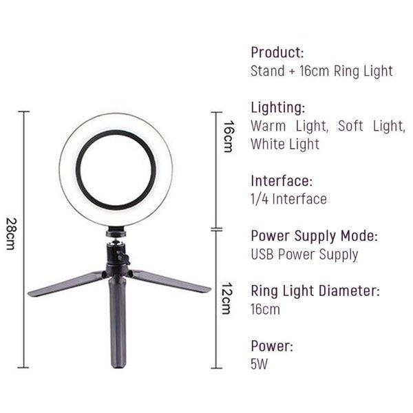 Tripé X 16 centímetros Luz