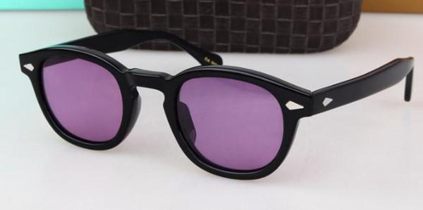 Noir cadre violet lentille