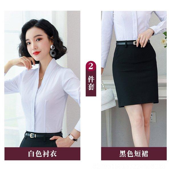 Camisa branca + saia preta