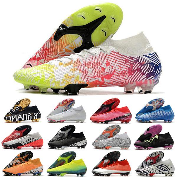 top popular 2020 Mercurial Superfly VII 7 Elite 360 FG Soccer Shoes CR7 SE Flash Crimson Neymar Mens Women Boys kids Football Boots high ankle Cleats 2020