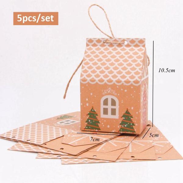 casa 5pcs-árvore