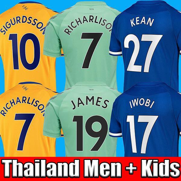 Top thailand quality 20 21 soccer jerseys 2020 2021 JAMES home away 3rd blue Football top soccer kits men kids sets uniform