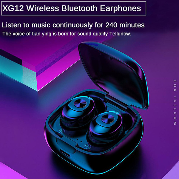 top popular XG12 XG13 XG15 XG17 TWS Mini Wireless Bluetooth 5.0 Earbuds Earphones In Ear Stereo Headset Headphone with Charging Box for All Phone 2020